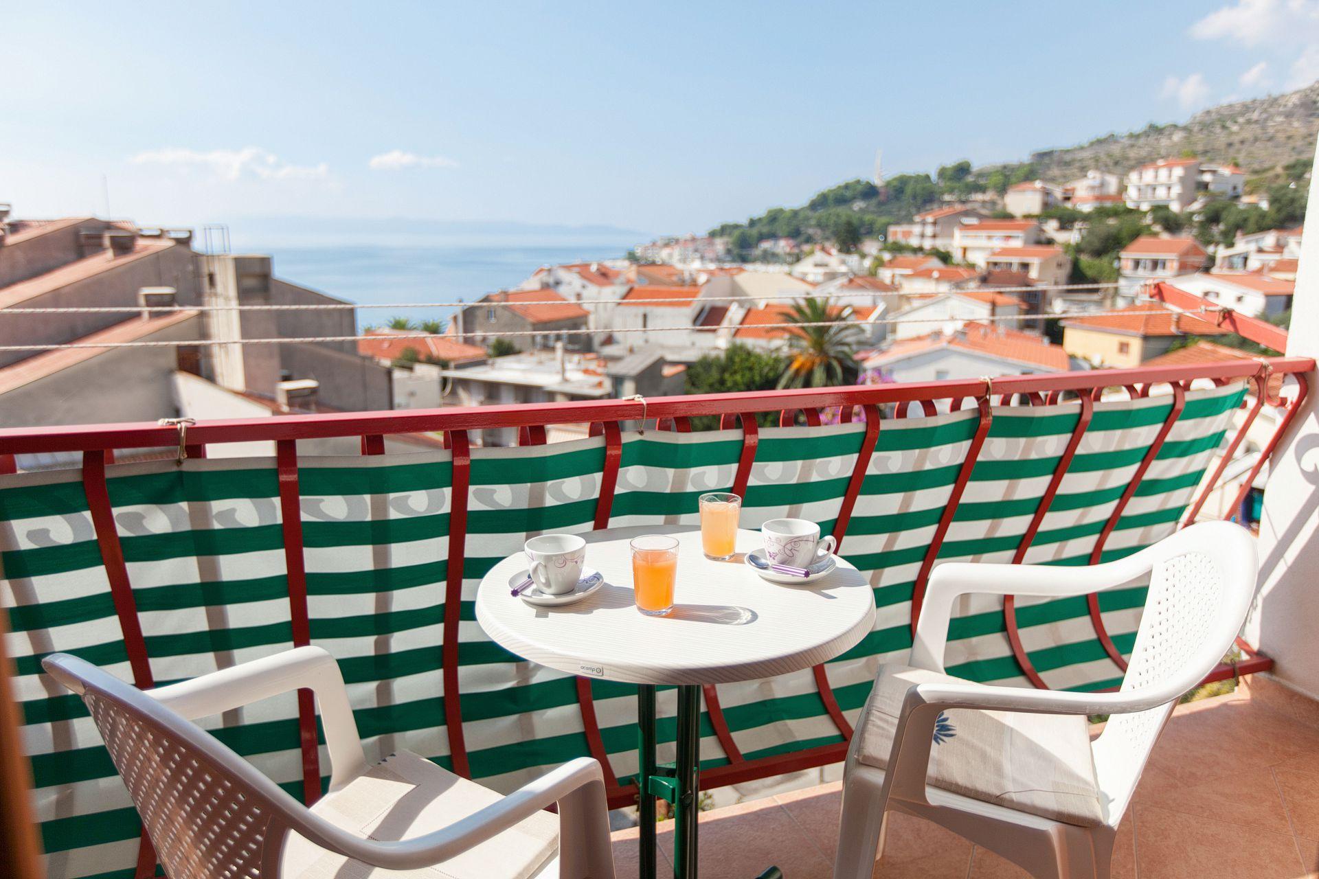 Nataša - Podgora - Appartementen Kroatië - A1(5): terras