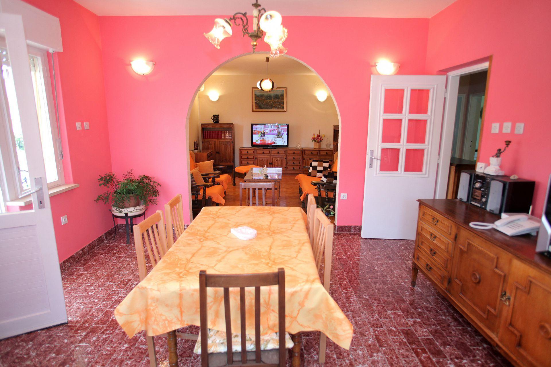 01707TROG  - Trogir - Appartements Croatie - A4(6): salle à manger