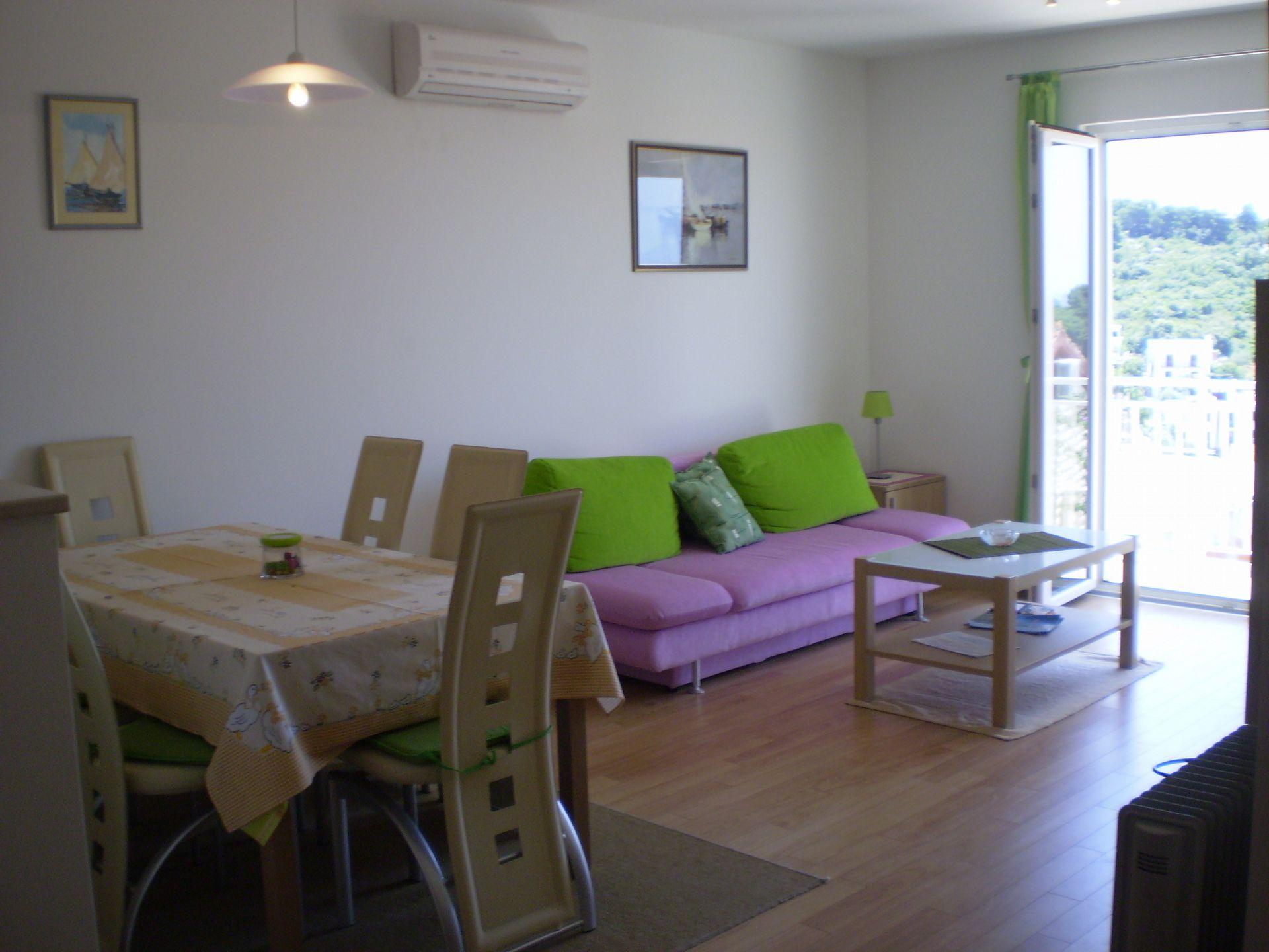 001HVAR - Hvar - Appartementen Kroatië - A1(4): woonkamer