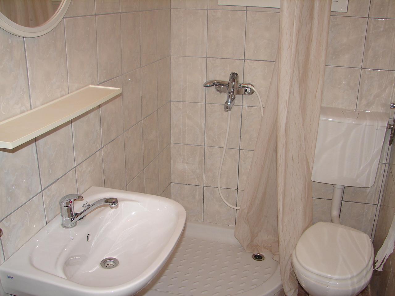 00217VIGA - Viganj - Appartamenti Croazia - A1(4+1): il bagno con la toilette