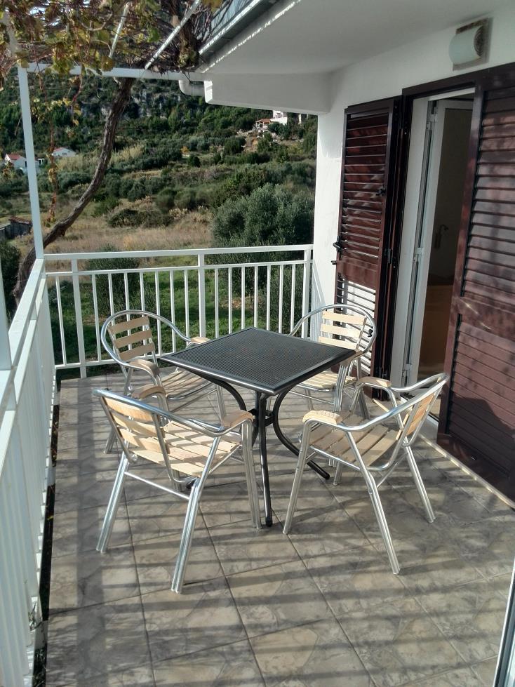 00217VIGA - Viganj - Appartamenti Croazia - A1(4+1): la terrazza coprita
