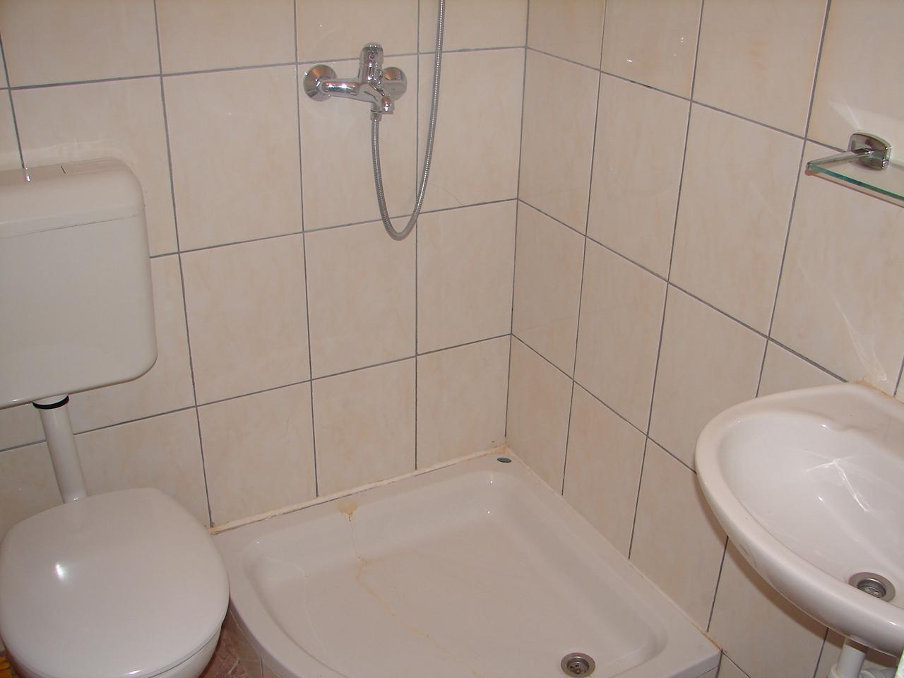 00217VIGA - Viganj - Appartamenti Croazia - A2(3): il bagno con la toilette