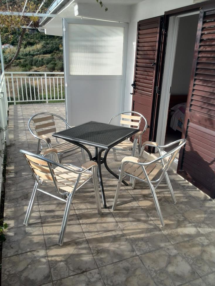 00217VIGA - Viganj - Appartamenti Croazia - A2(3): la terrazza coprita