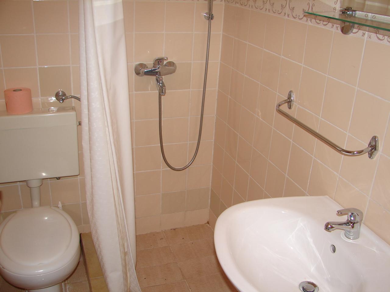 00217VIGA - Viganj - Appartamenti Croazia - A3(4): il bagno con la toilette