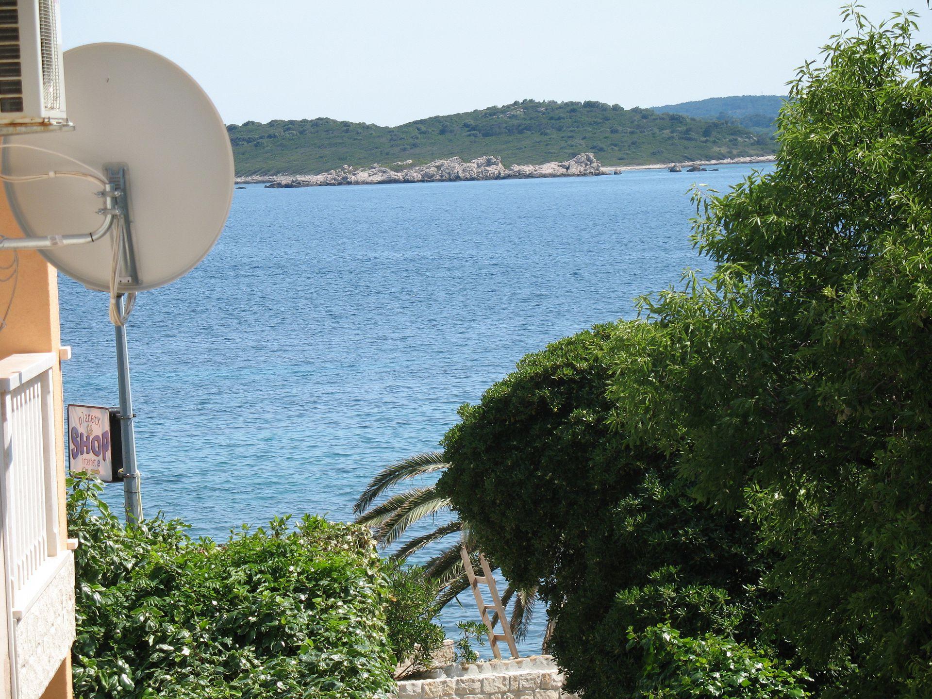 02017OREB - Orebic - Appartementen Kroatië - SA4(2+1): uitzicht vanaf balkon