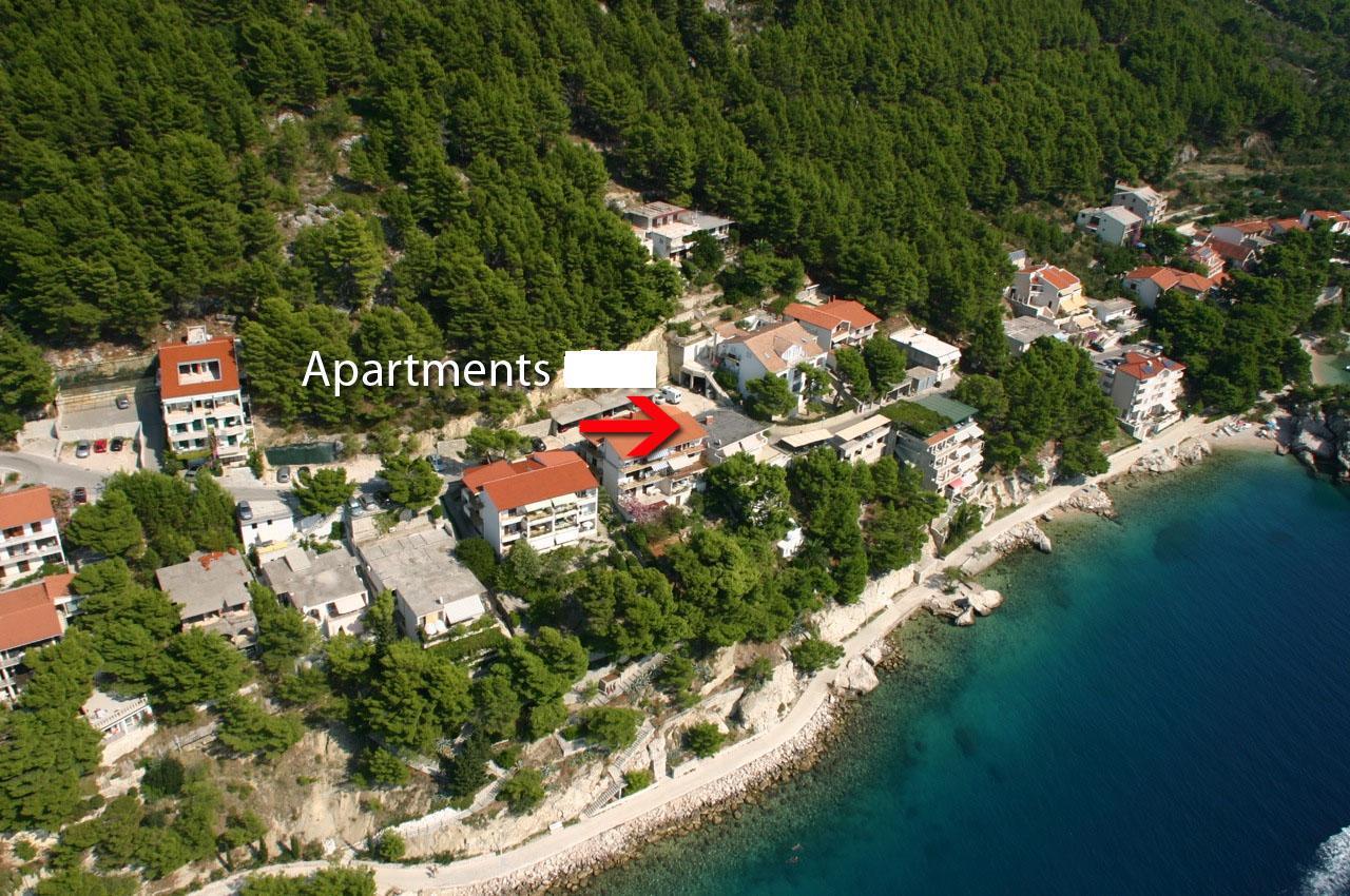 02113BREL  - Brela - Appartementen Kroatië