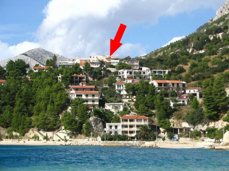 2230  - Brela - Ferienwohnungen Kroatien