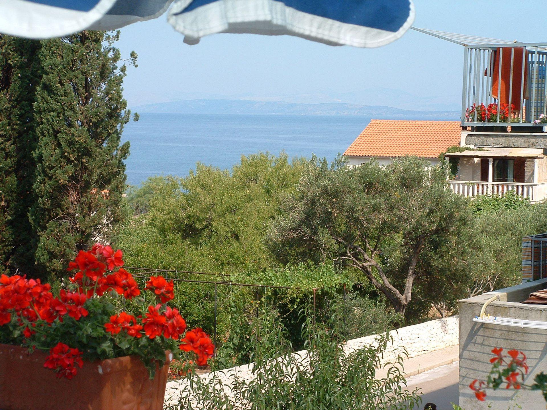 01301MIRC  - Mirca - Appartamenti Croazia - A2(4+1): lo sguardo dalla terrazza