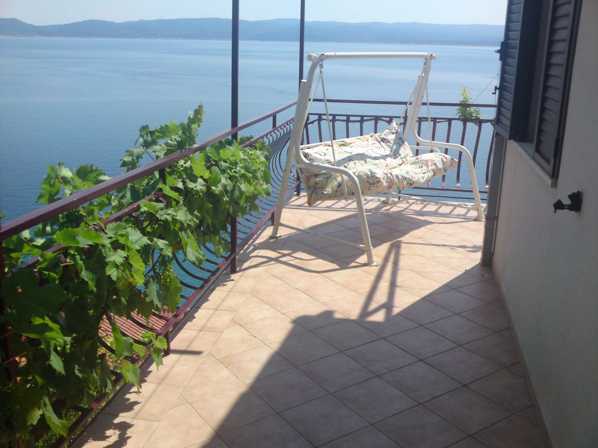 00209PISA  - Pisak - Ferienwohnungen Kroatien - A5 (2+2): Terasse