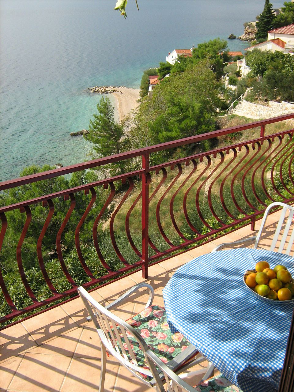 00209PISA  - Pisak - Ferienwohnungen Kroatien - A5 (2+2): Aussicht vom Terasse