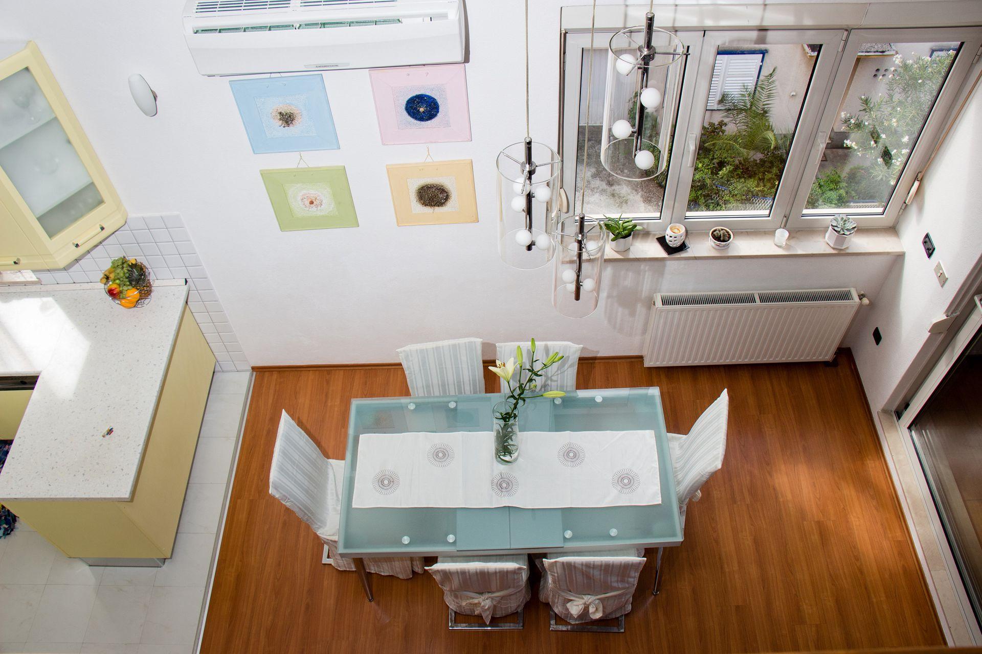 01707TROG  - Trogir - Appartements Croatie - A3(6+1): salle à manger