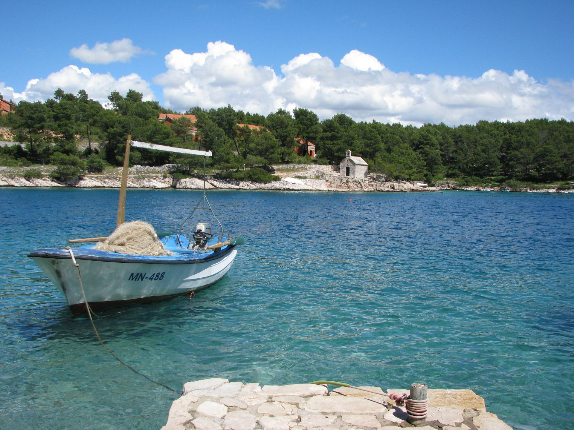 Simi - Baai Osibova (Milna) - Verblijf in lagunes Kroatië - strand
