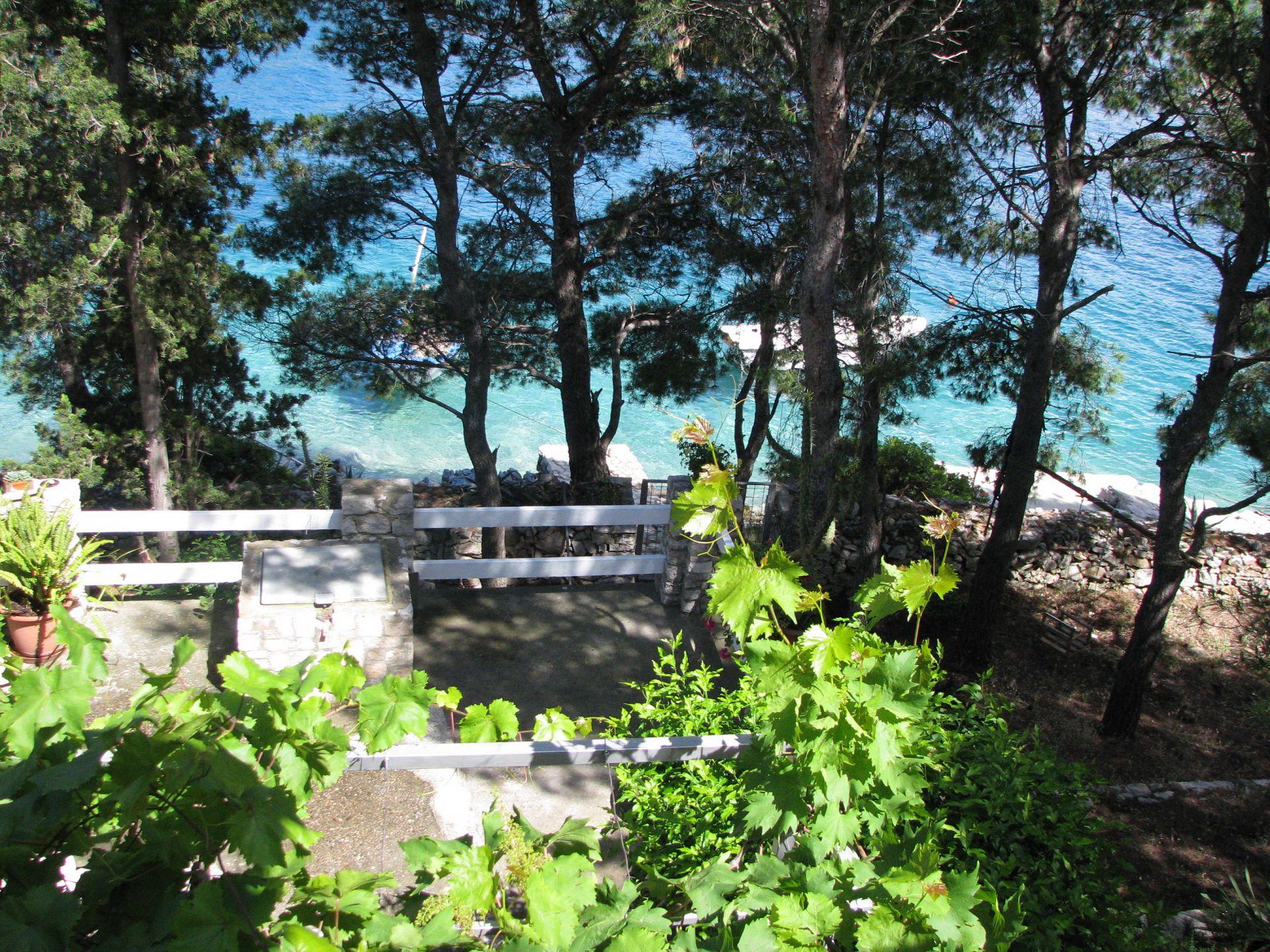 Simi - Baai Osibova (Milna) - Verblijf in lagunes Kroatië - uitzicht op zee (huis en omgeving)
