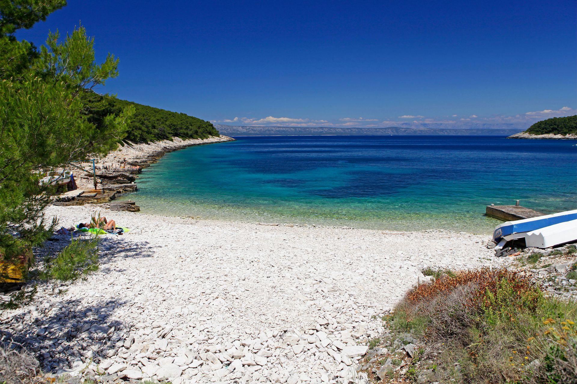 00614VLUK - Bucht Tankaraca (Vela Luka) - Unterkunft in Buchten Kroatien - Strand