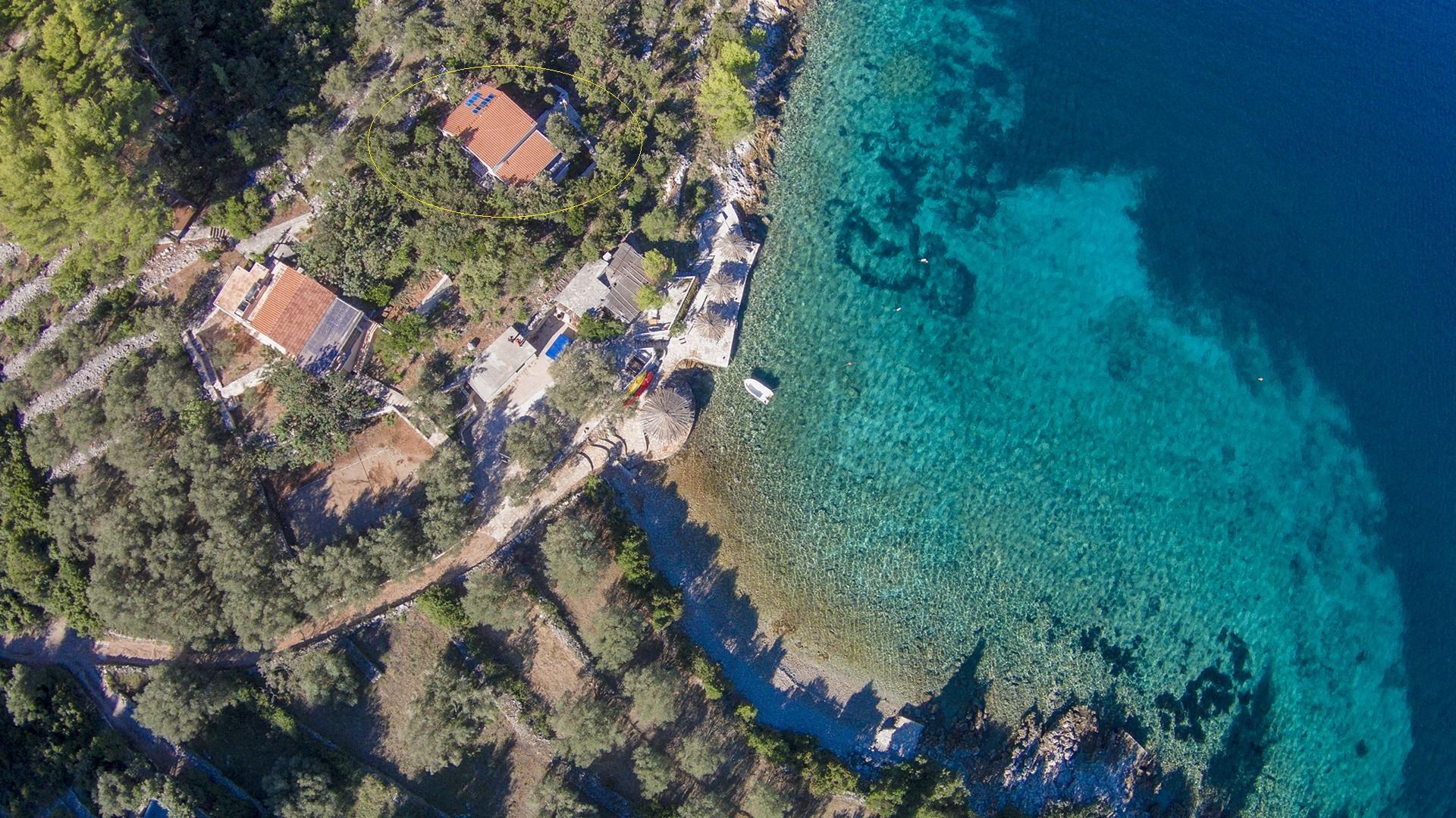 B1214VLUK  - Öböl Picena (Vela Luka) - Nyaralóházak Horvátország - ház