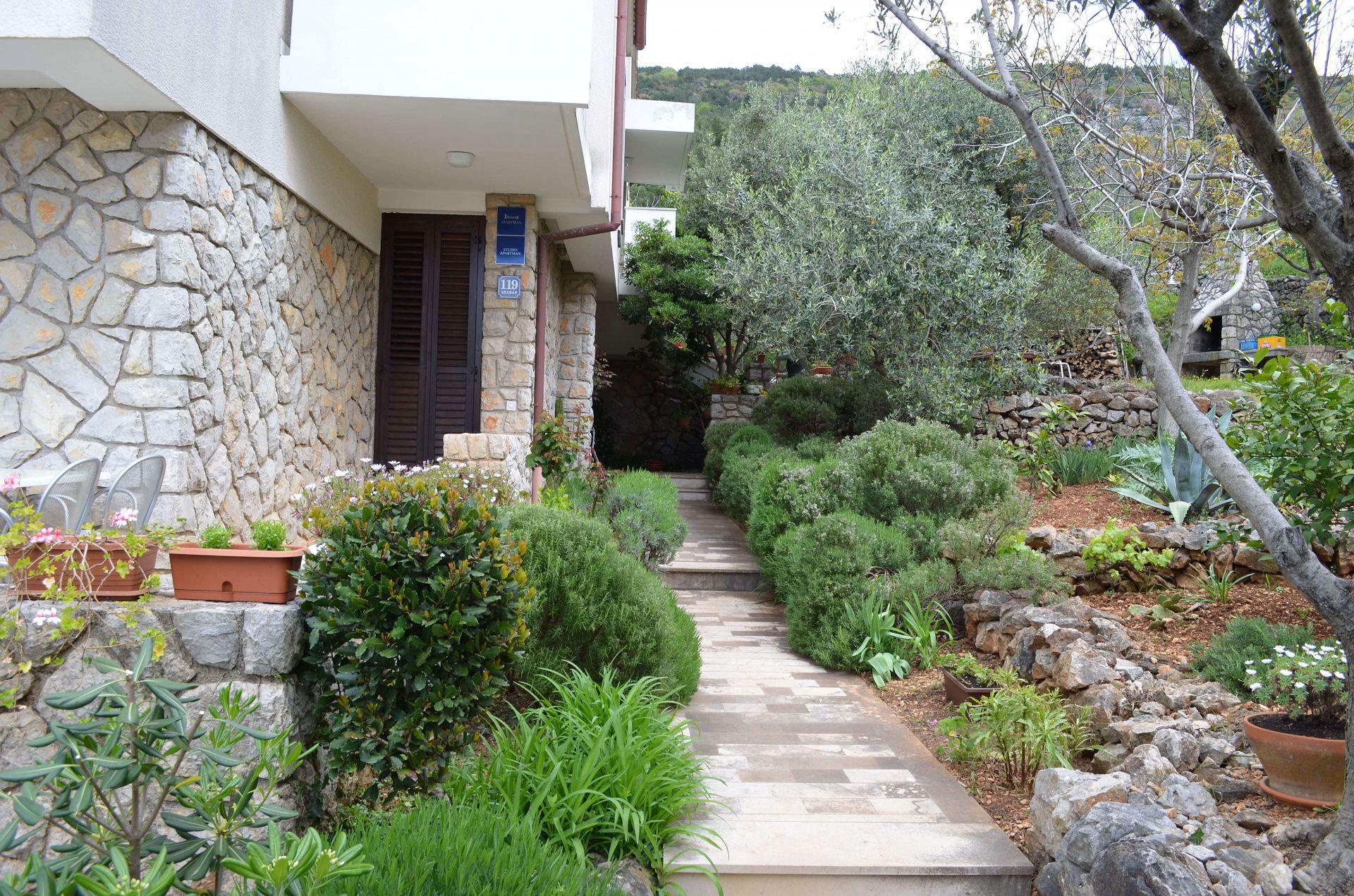 2337  - Cres - Apartmaji Hrvaška - vrt