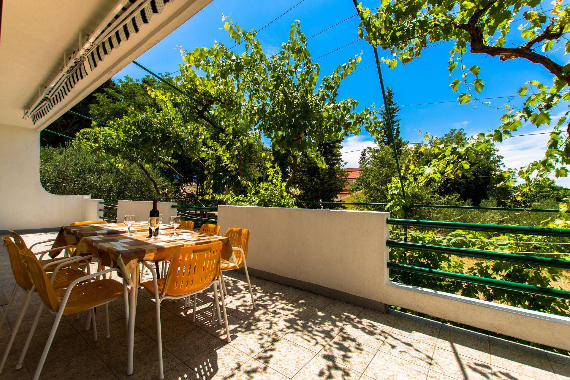 Zeli - Brela - Appartementen Kroatië - A1(4+4): terras