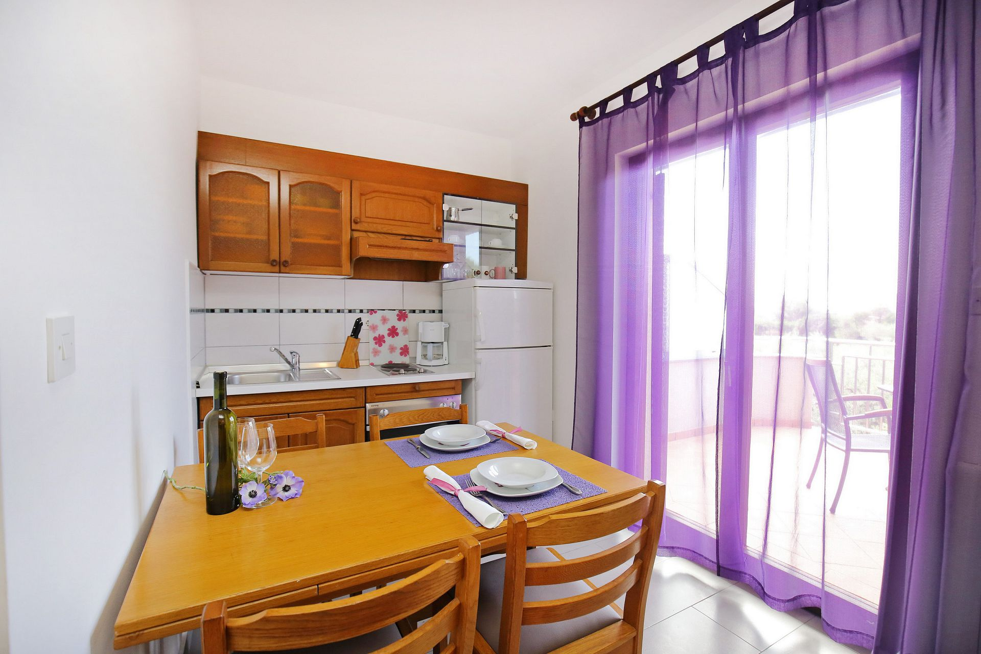 00418ZATZ - Zaton (Zadar) - Apartments Croatia - A2(2+2): kitchen and dining room