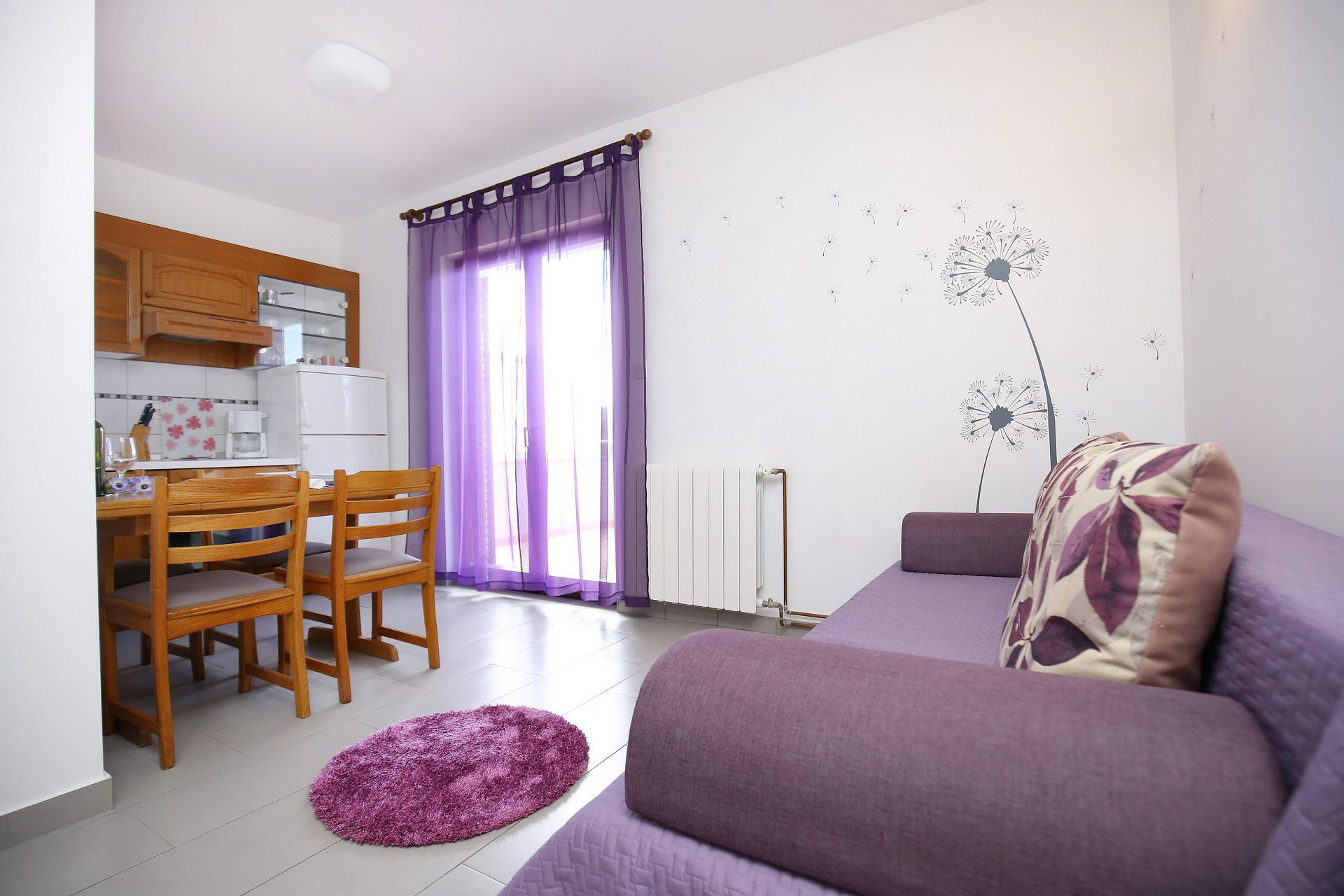00418ZATZ - Zaton (Zadar) - Apartments Croatia - A2(2+2): living room