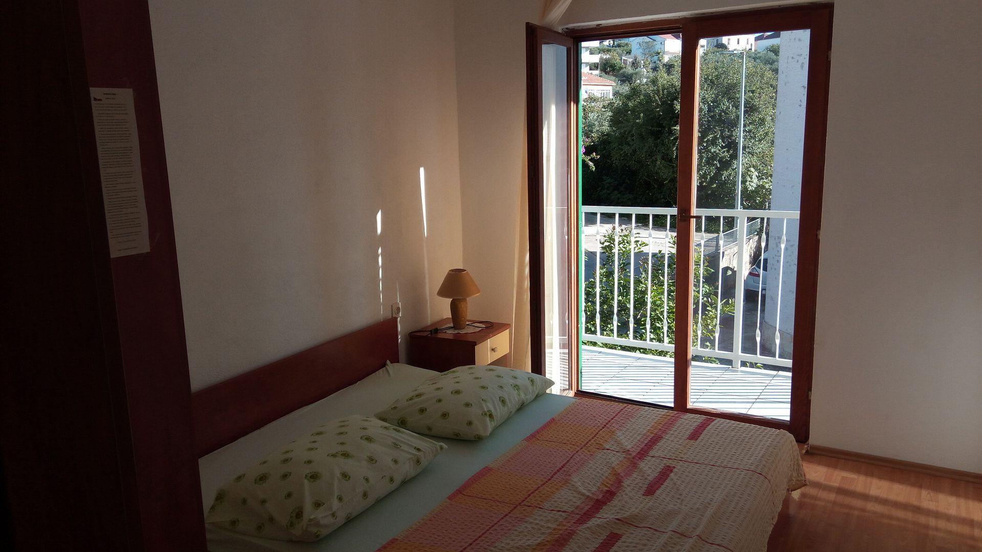 Marijica - Okrug Gornji - Ferienwohnungen Kroatien - A1(6): Schlafzimmer