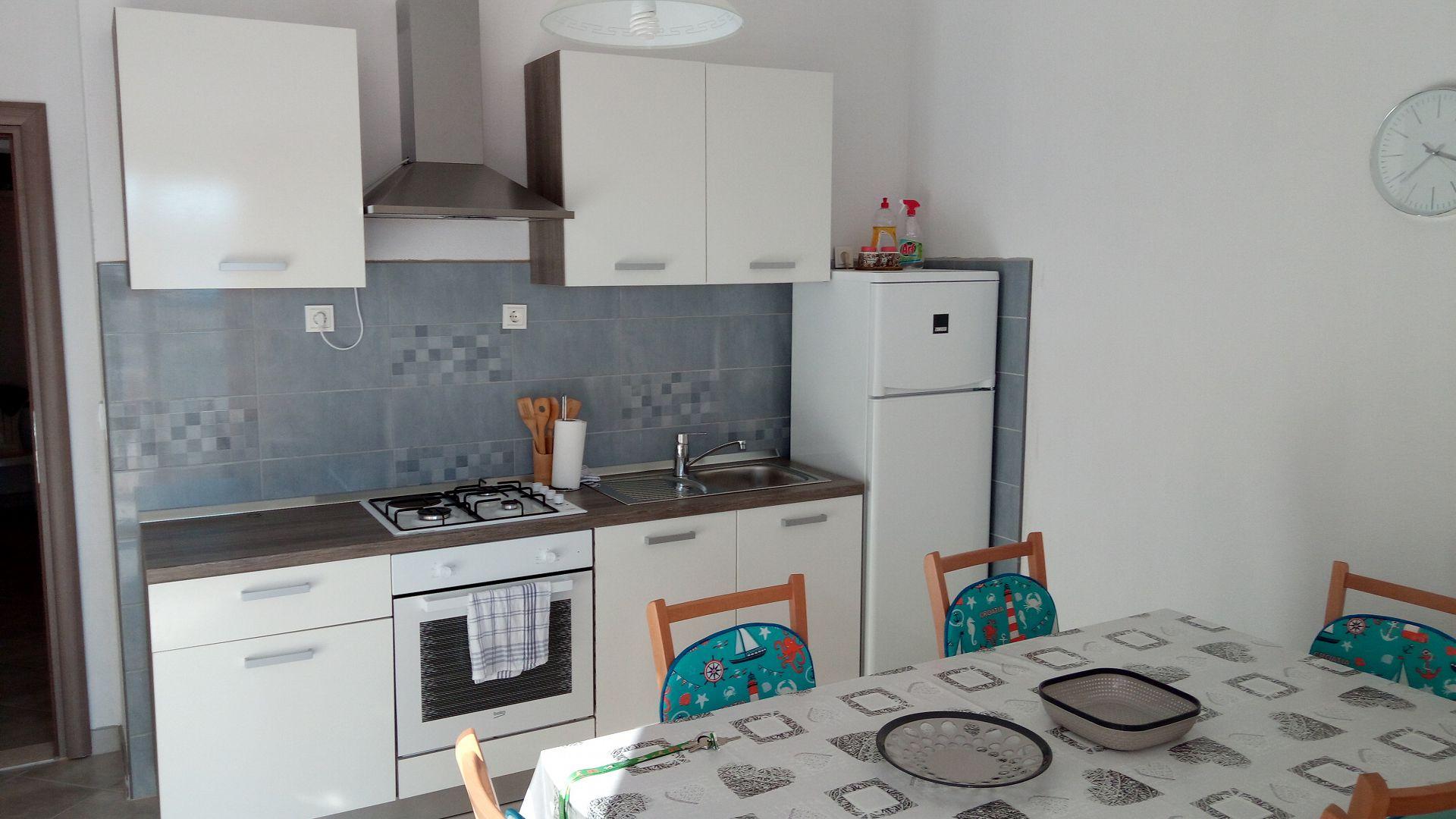 Marijica - Okrug Gornji - Ferienwohnungen Kroatien - A2(6): Küche und Speisezimmer