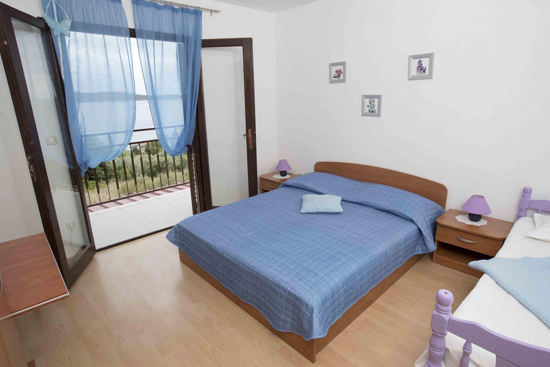 00603ZAVA - Zavala - Appartementen Kroatië - Tonia(4+1): slaapkamer
