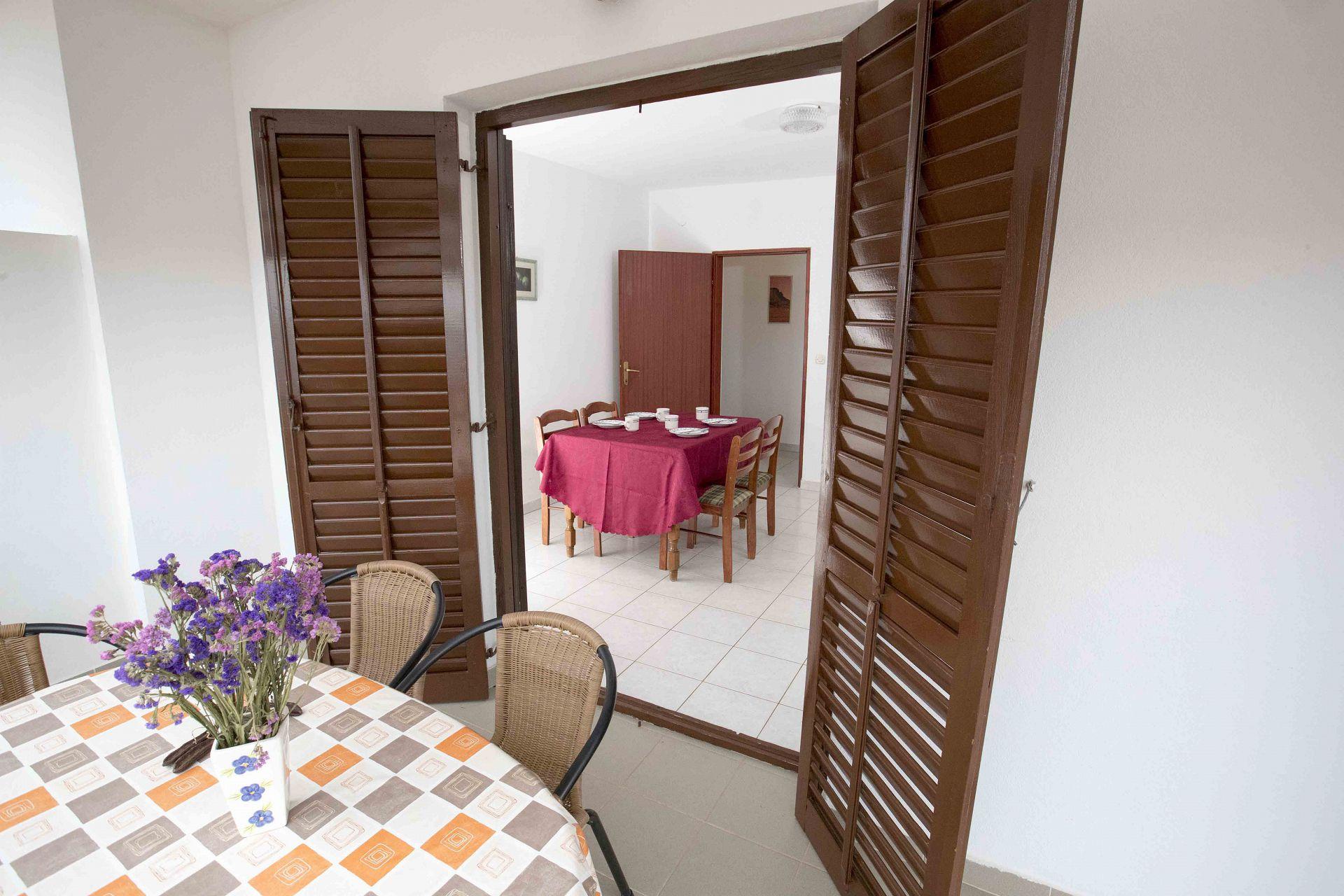 00603ZAVA - Zavala - Appartementen Kroatië - Tonia(4+1): terras