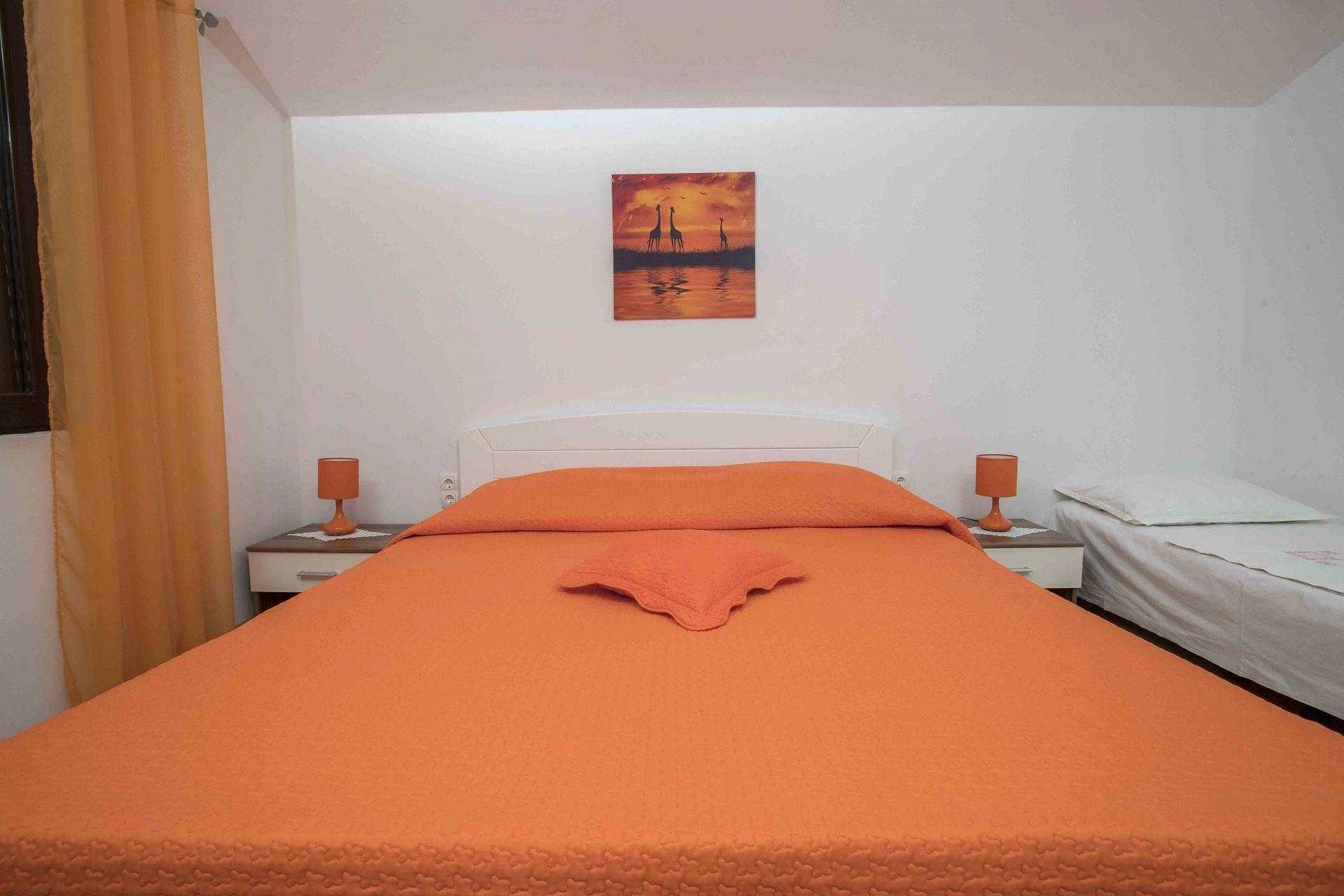 00603ZAVA - Zavala - Appartementen Kroatië - Nina(2+1): slaapkamer