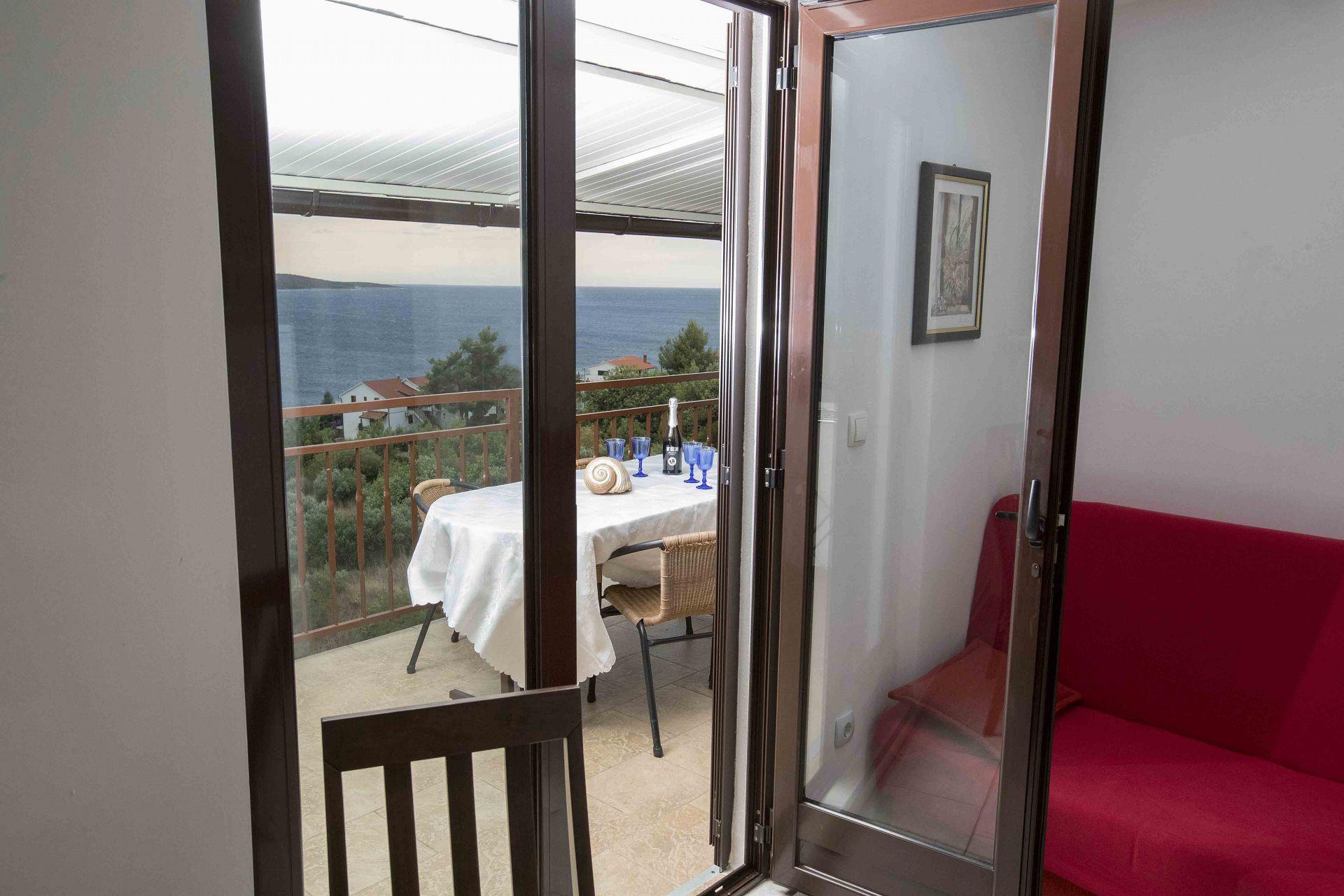 00603ZAVA - Zavala - Appartementen Kroatië - Mario(4+1): terras