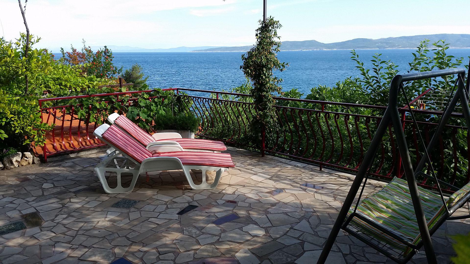 00209PISA  - Pisak - Ferienwohnungen Kroatien - A3 Prizemlje (2+2): Aussicht vom Terasse