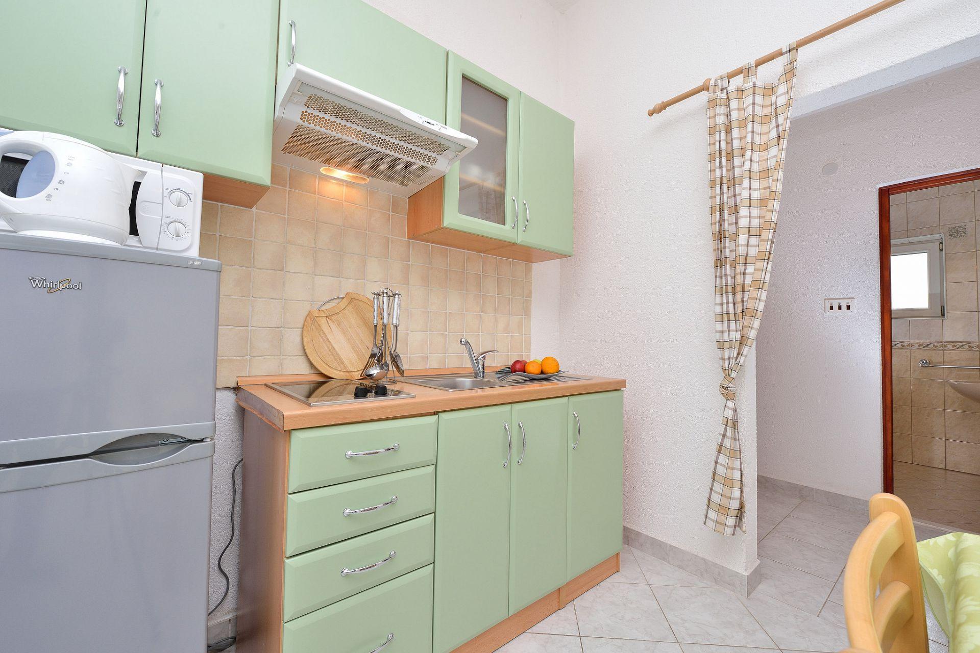 1675 - Drage - Apartmanok Horvátország - A3(2+2): konyha