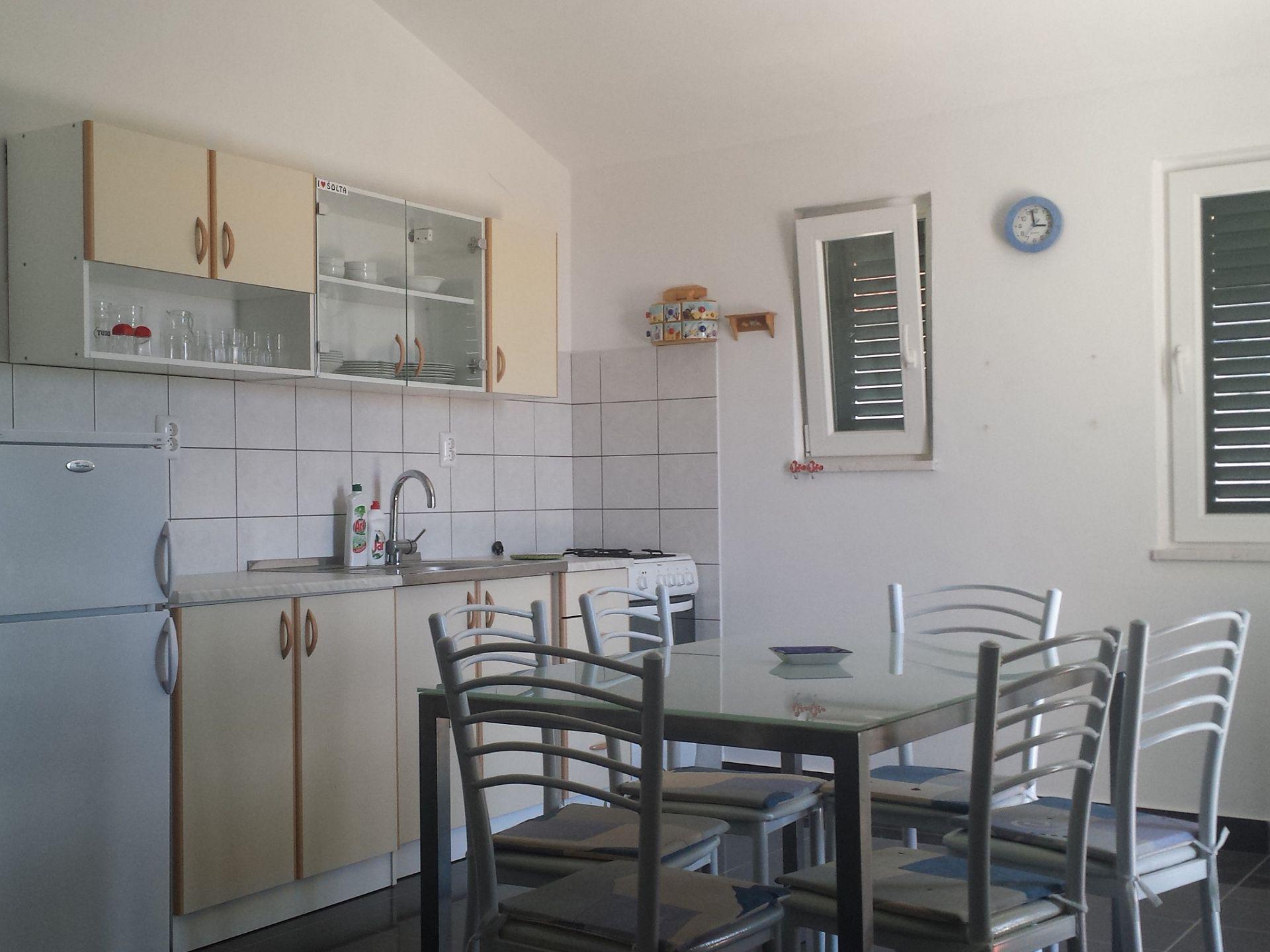 Elizabet - Maslinica - Ferienwohnungen Kroatien - A1(4+2): Küche