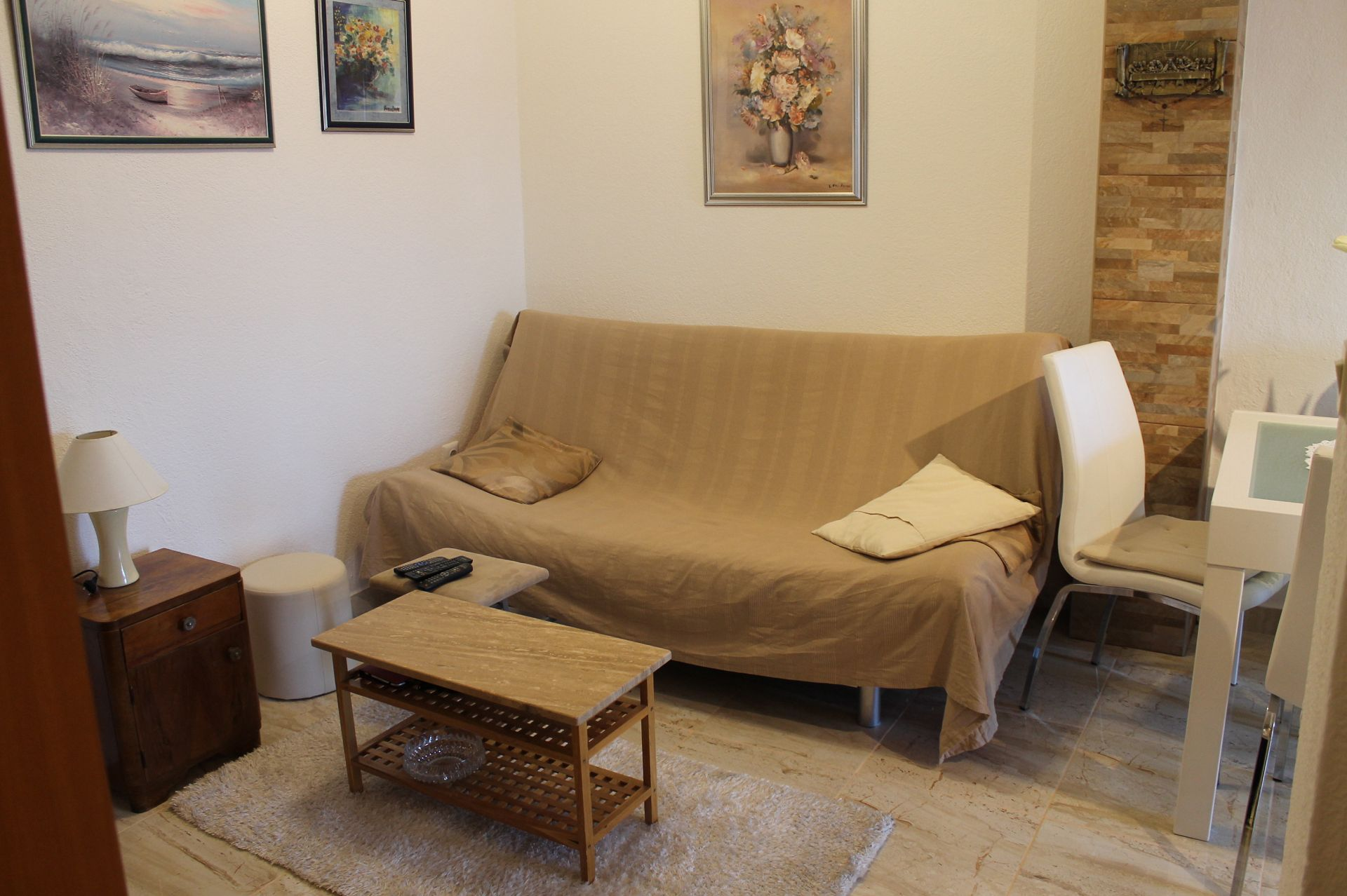 5257  - Pisak - Ferienwohnungen Kroatien - A2 PRIZEMLJE (3+2): Tagesaufenthaltsraum