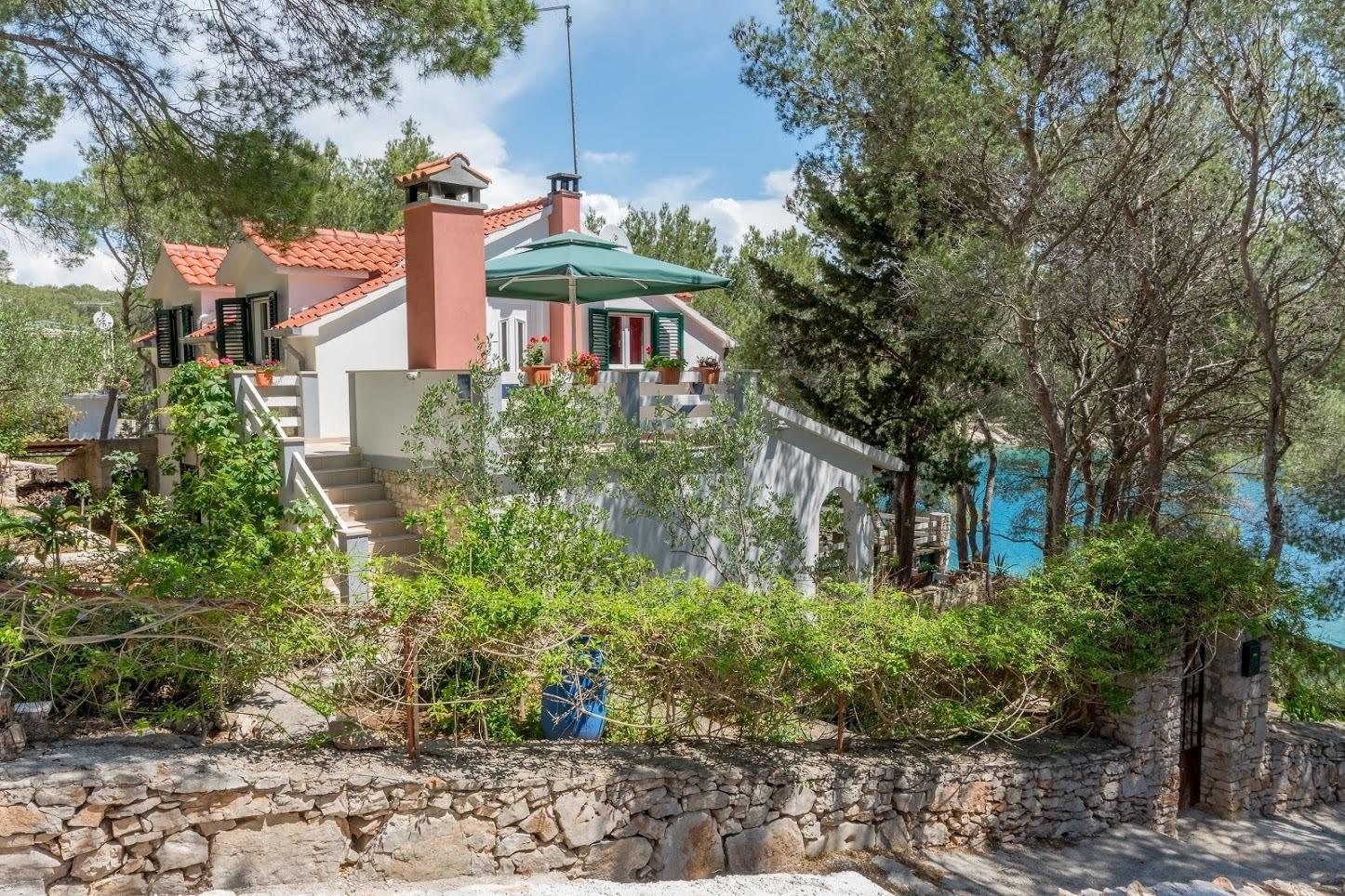 Simi - Baai Osibova (Milna) - Verblijf in lagunes Kroatië - huis