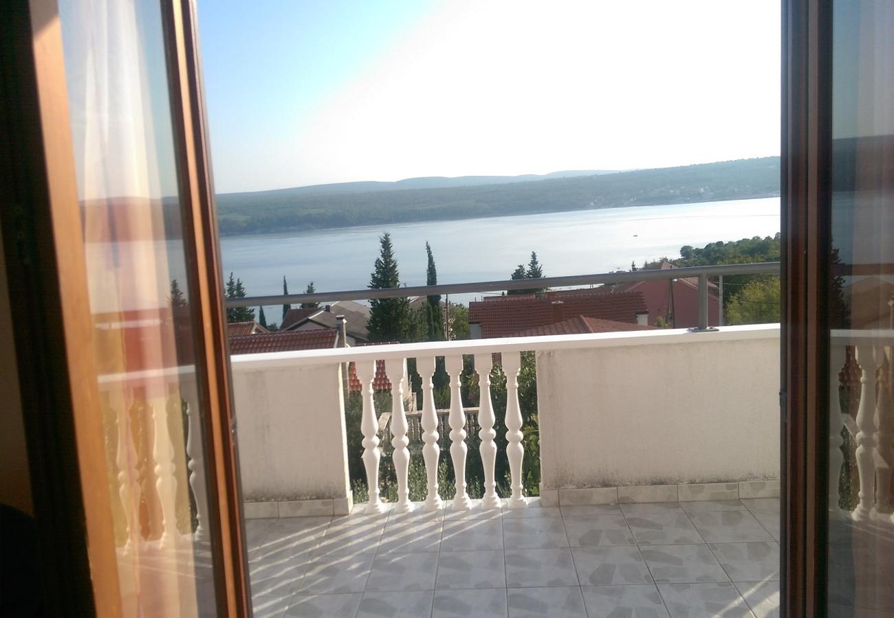 Tina - Obrovac - Appartementen Kroatië - A1(4): terras
