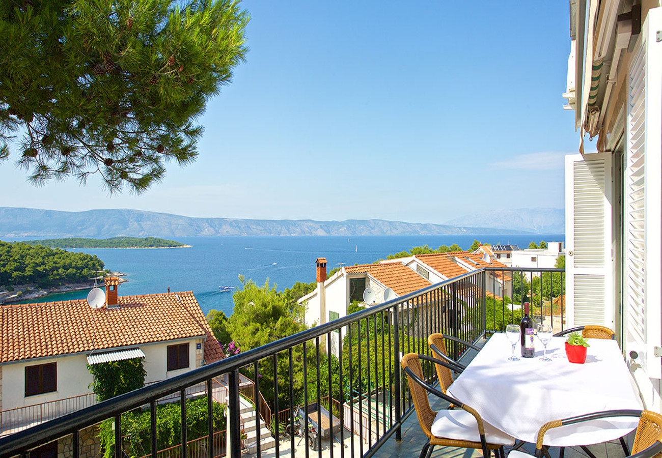 Apartments, Jelsa, Island of Hvar - Apartments  Tobo - parking and barbecue: