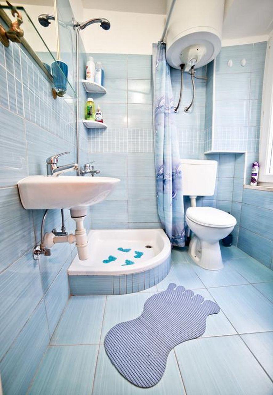 MV - Split - Appartementen Kroatië - A1(2+1): badkamer met toilet