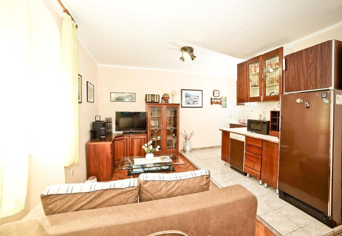 MV - Split - Appartementen Kroatië - A1(2+1): woonkamer