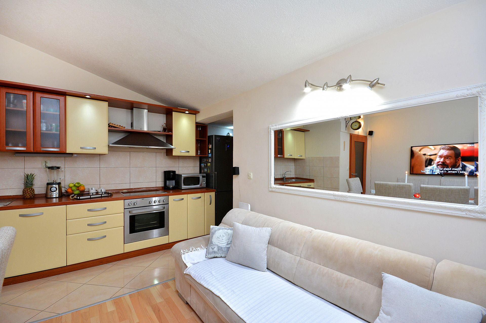 Zeljko - Marina - Appartementen Kroatië - A1(6+2): woonkamer