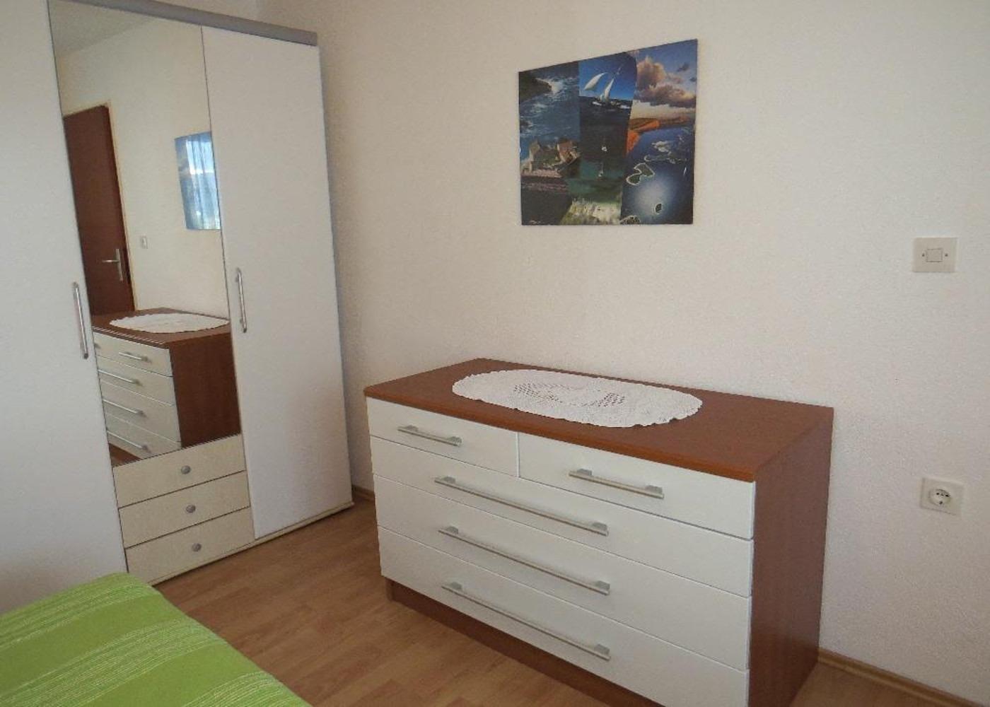 Bubi - Mastrinka - Appartementen Kroatië - A1(2+2): slaapkamer