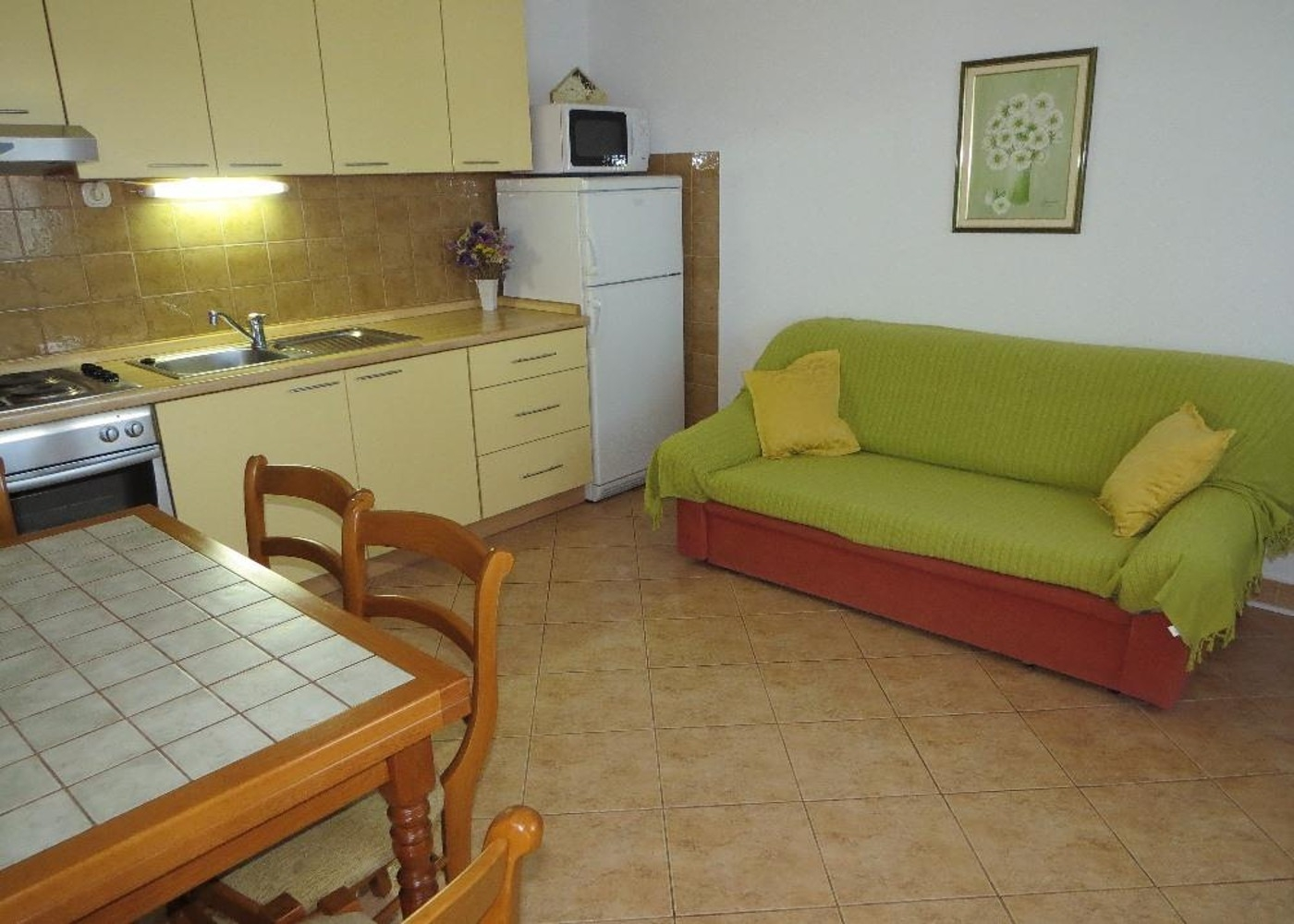 Bubi - Mastrinka - Appartementen Kroatië - A1(2+2): woonkamer