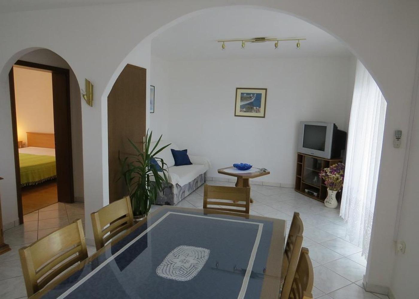 Bubi - Mastrinka - Appartementen Kroatië - A2 Prvi kat(4+2): woonkamer