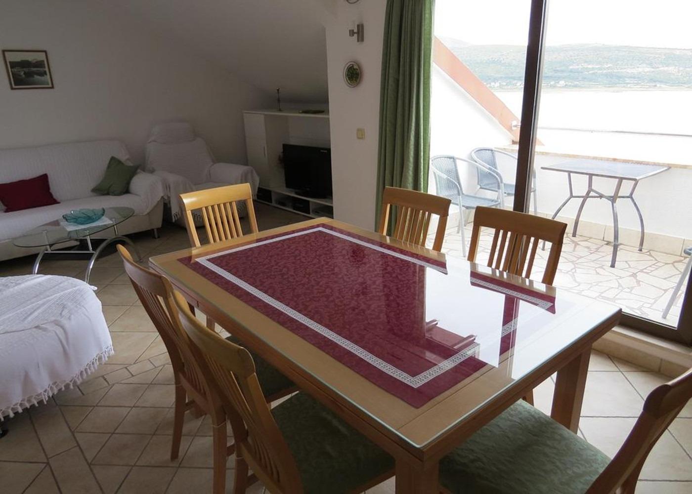 Bubi - Mastrinka - Appartementen Kroatië - A3 drugi kat (4+2): woonkamer