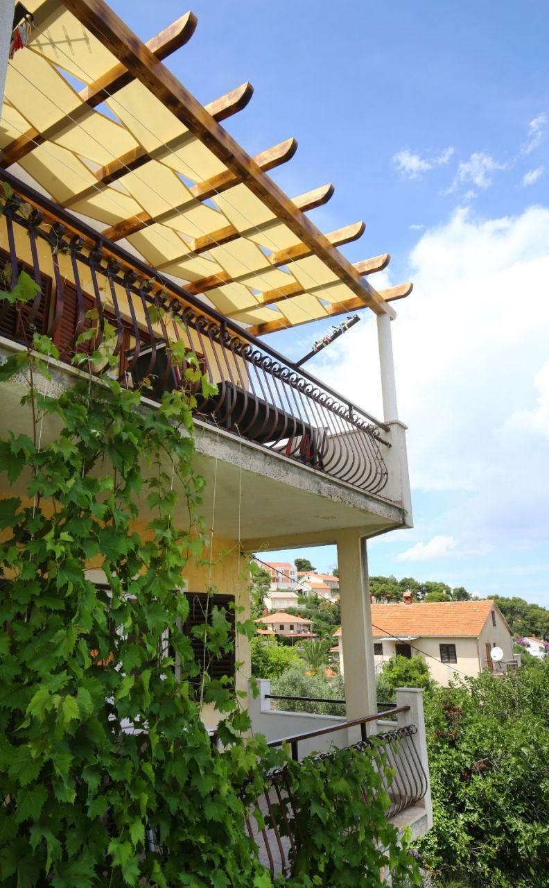 Neda - Splitska - Appartementen Kroatië - A2(4+1): terras