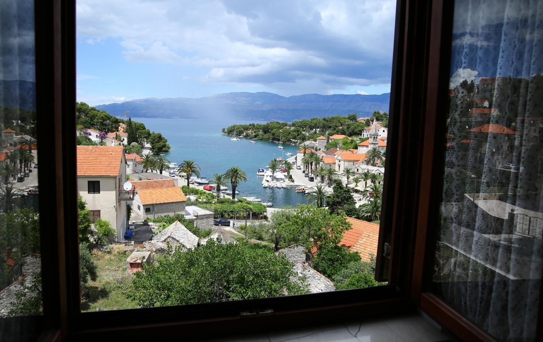 Neda - Splitska - Appartementen Kroatië - A2(4+1): uitzicht