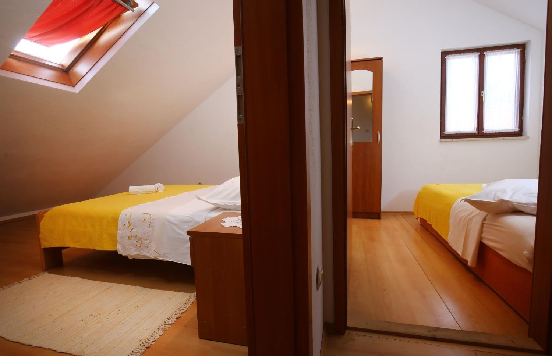 Neda - Splitska - Appartementen Kroatië - A3(4+1): slaapkamer