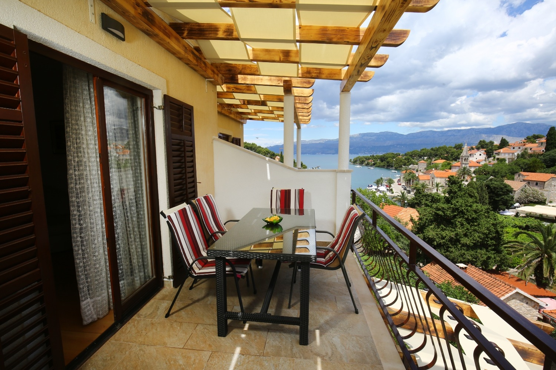 Neda - Splitska - Appartementen Kroatië - A3(4+1): uitzicht