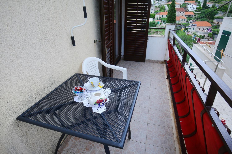 Neda - Splitska - Appartementen Kroatië - A3(4+1): terras