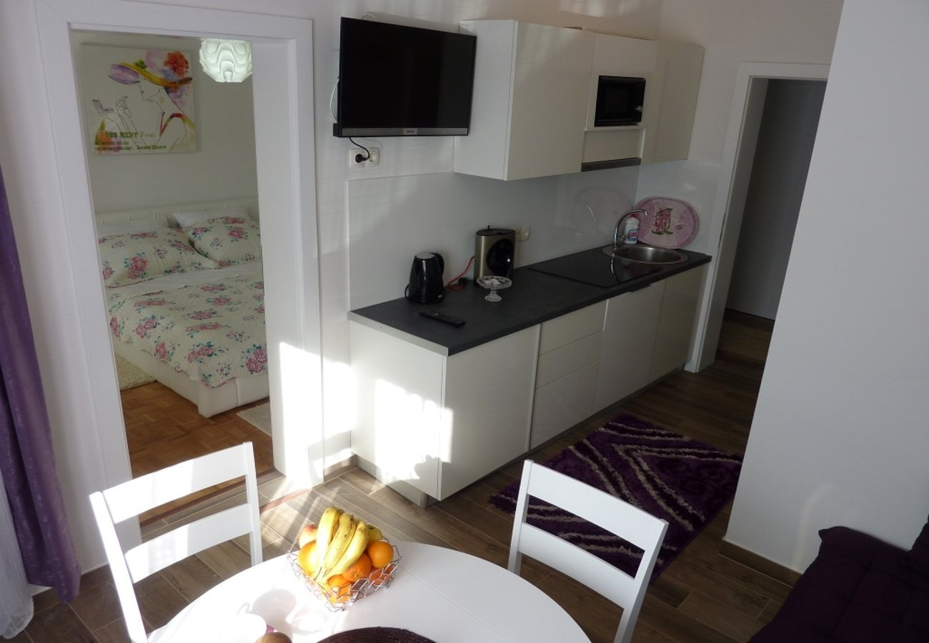 Sunny by the Sea - Zaton (Zadar) - Appartementen Kroatië - A1(2+2): keuken en eetkamer