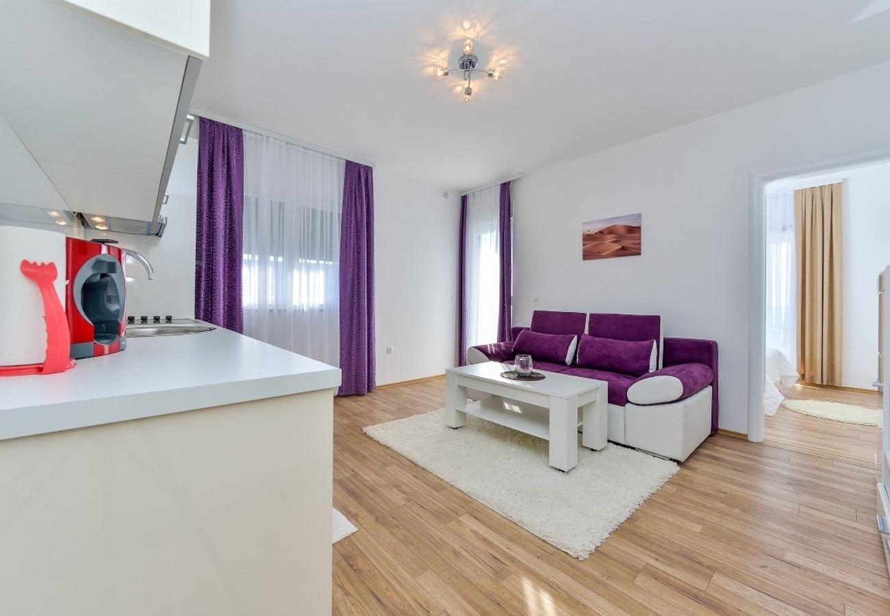 Sunny by the Sea - Zaton (Zadar) - Appartementen Kroatië - A4(4+3): woonkamer
